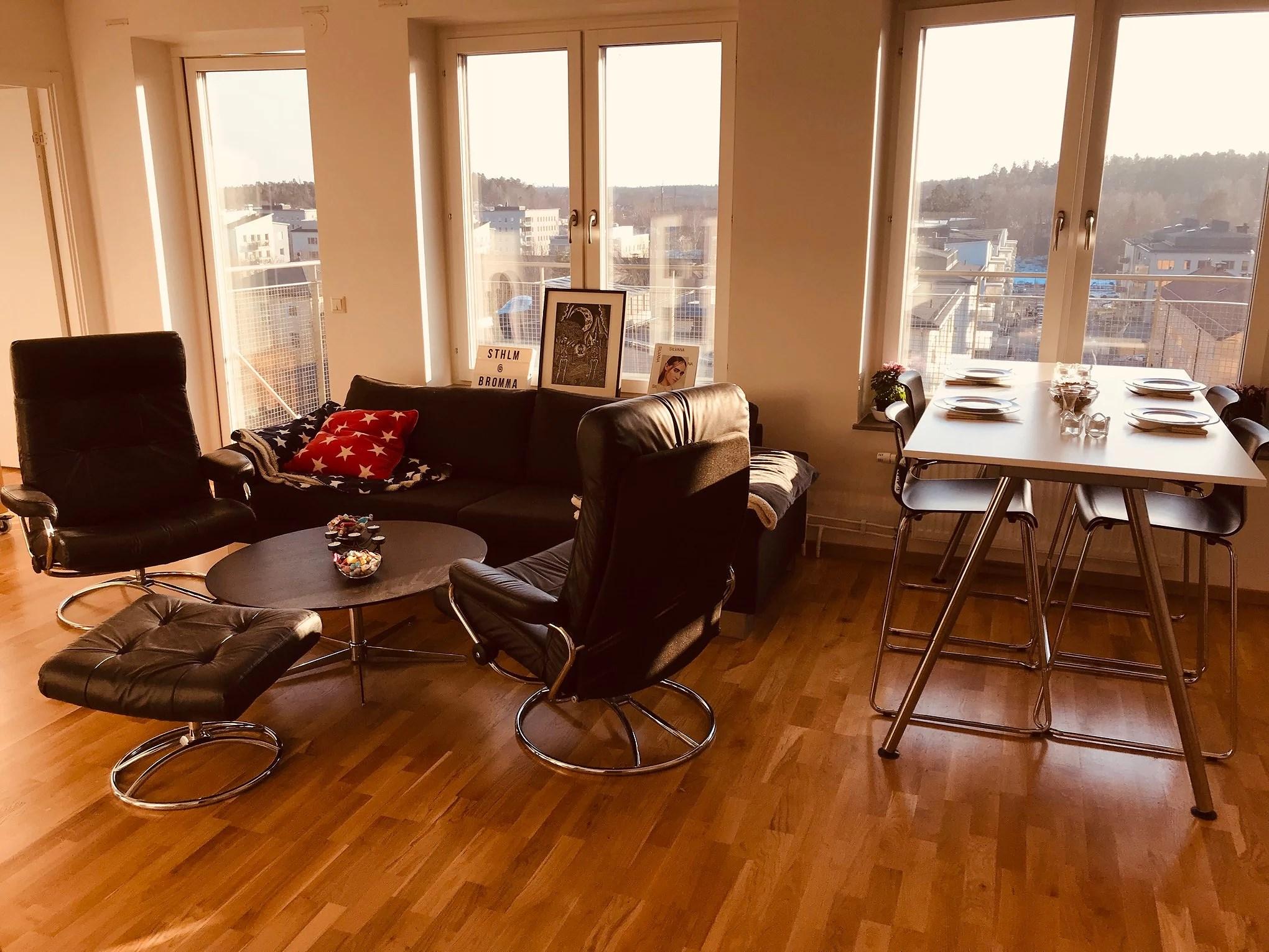 Första bilderna på lägenheten!!