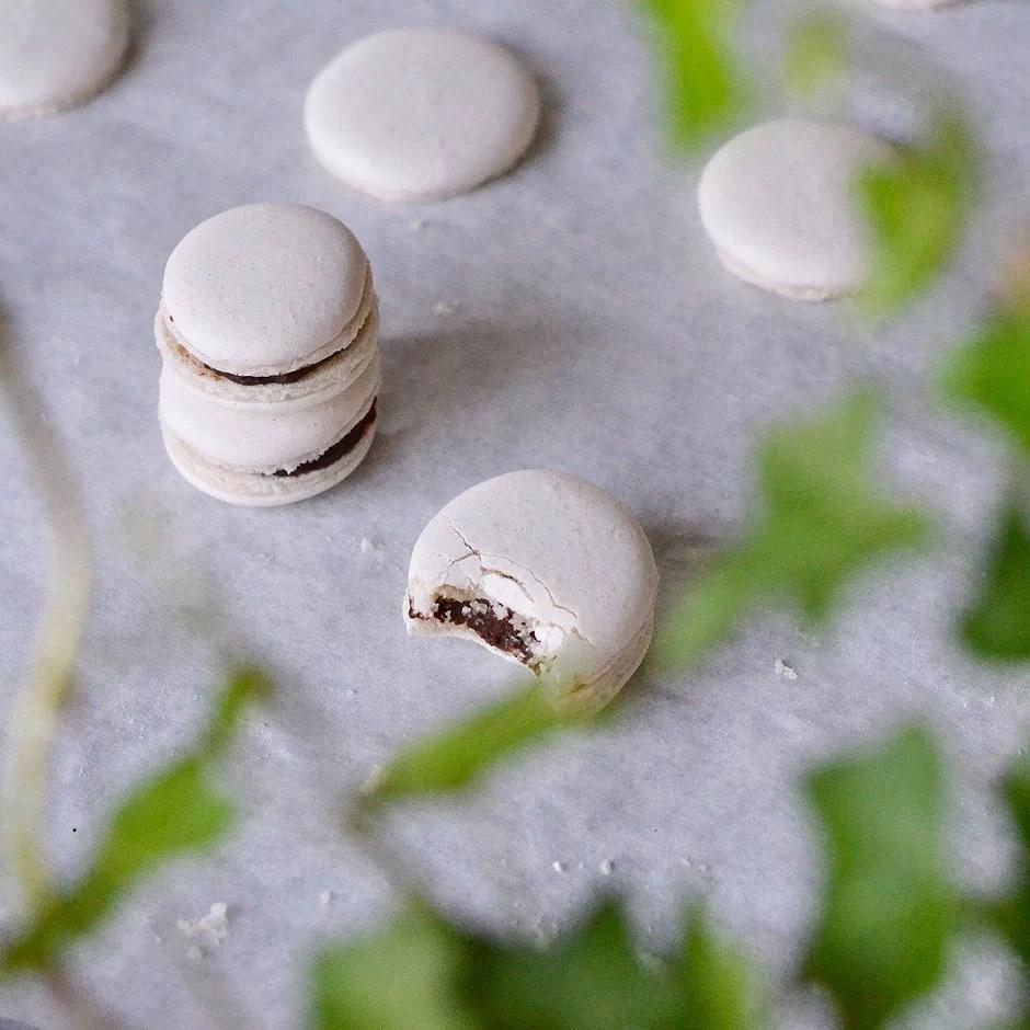 Macarons med minttryffel
