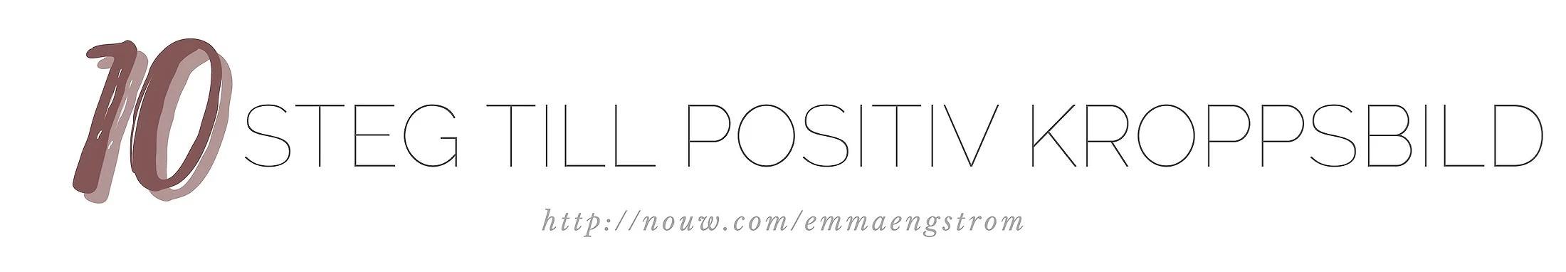 10 steg till en positiv kroppsbild