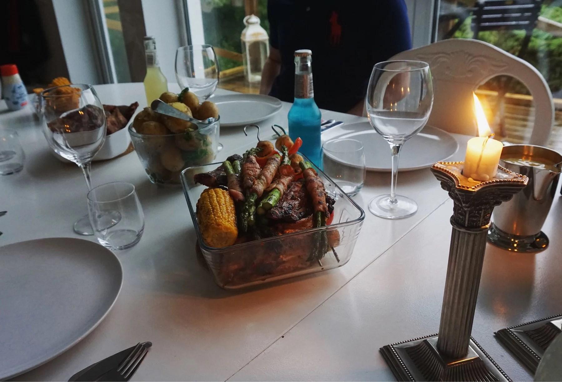 Last nights grill
