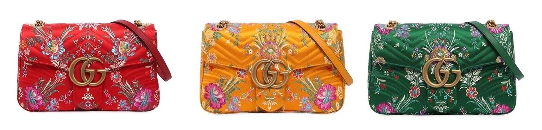 Gucci marmont 2.0 Tokyo print bag