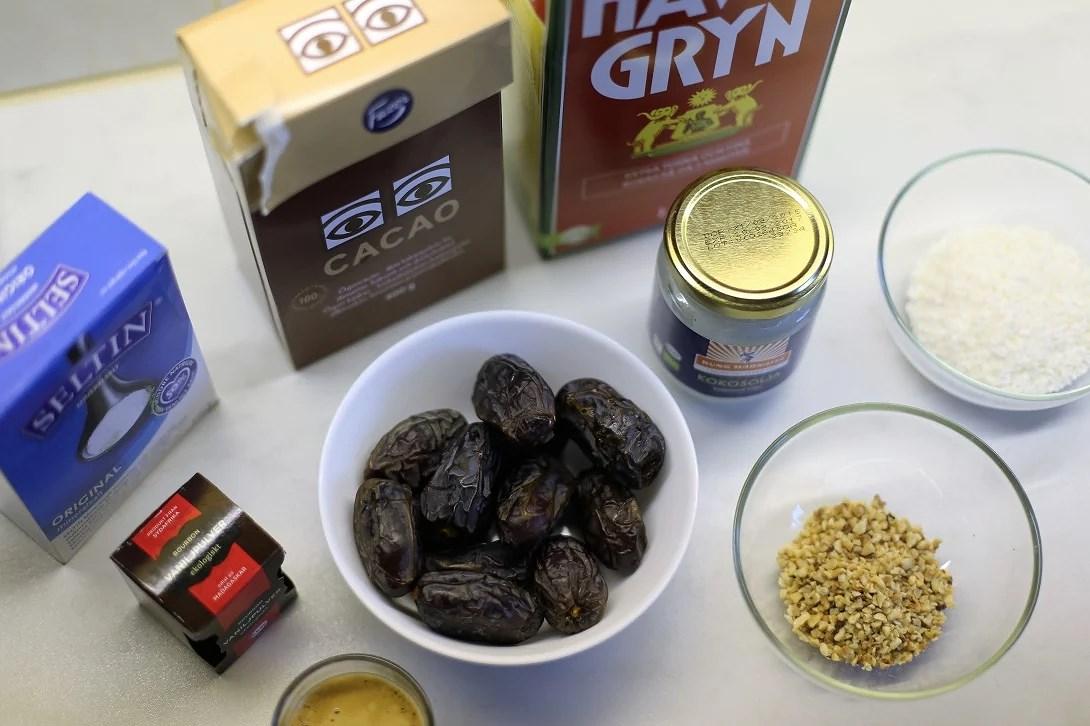 Dadelchokladbollar