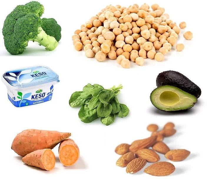 mat som innehåller mycket magnesium