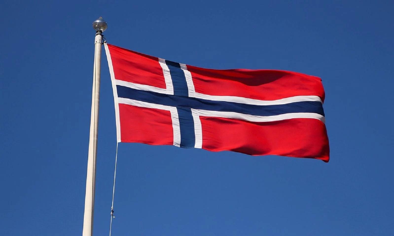 Det er Norge i rødt, hvitt og blått...