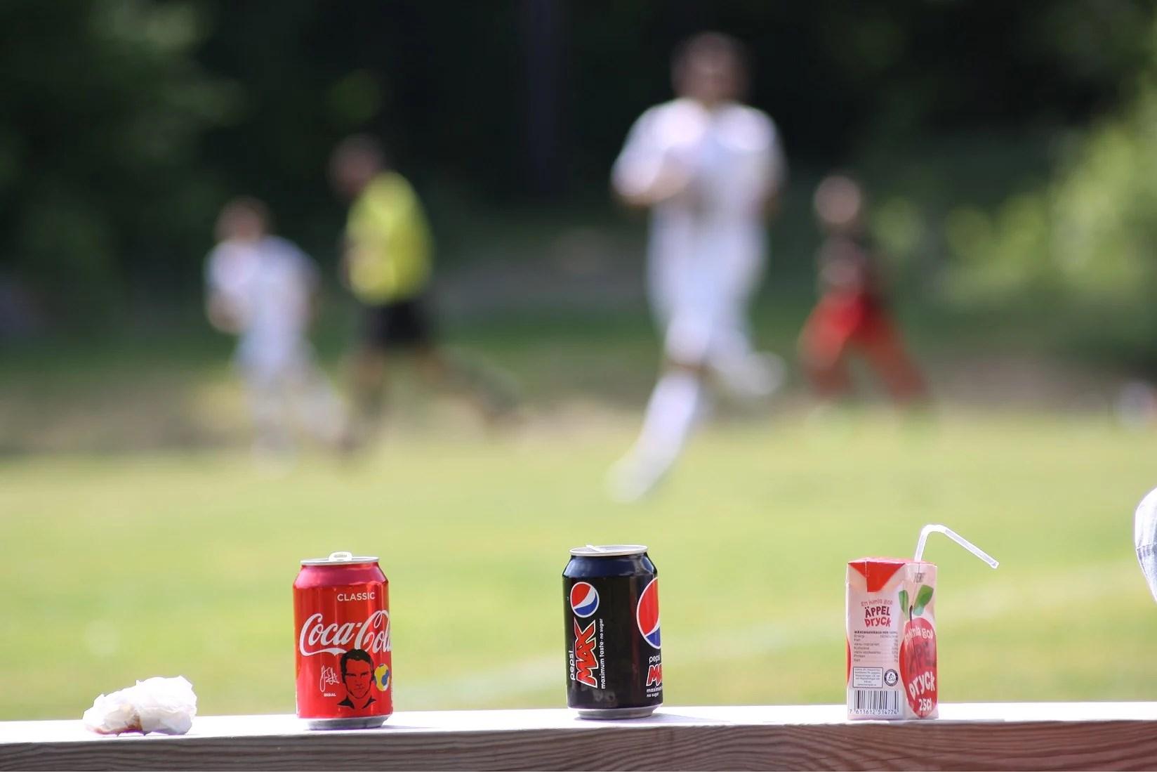 Kurtis och fotbollsmatch