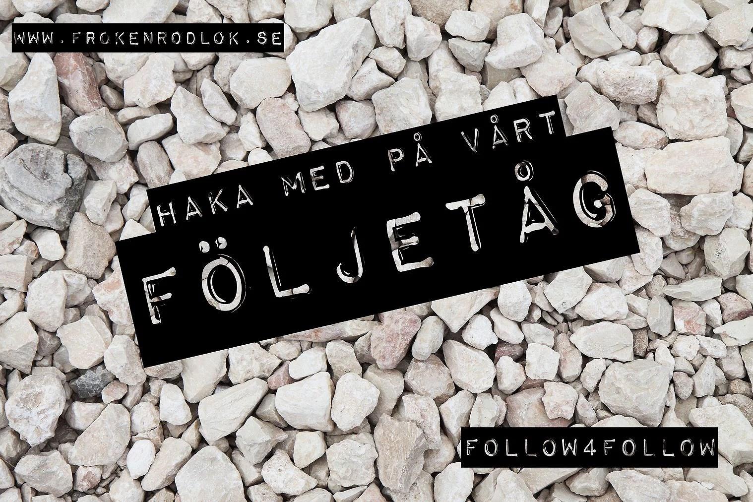 Följ oss och få fler följare själv - följetåg!