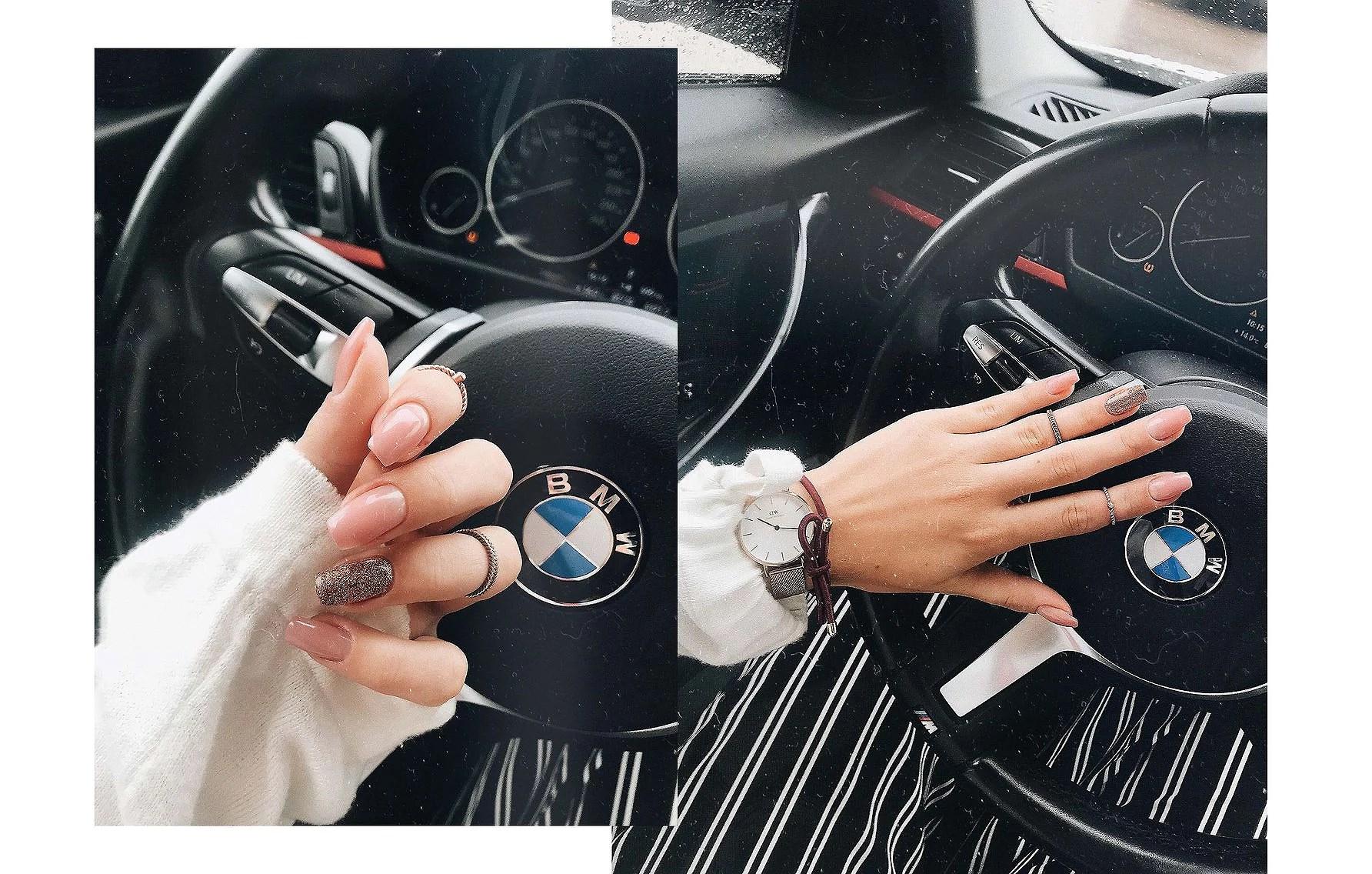 Nya naglar & förväntansfull.