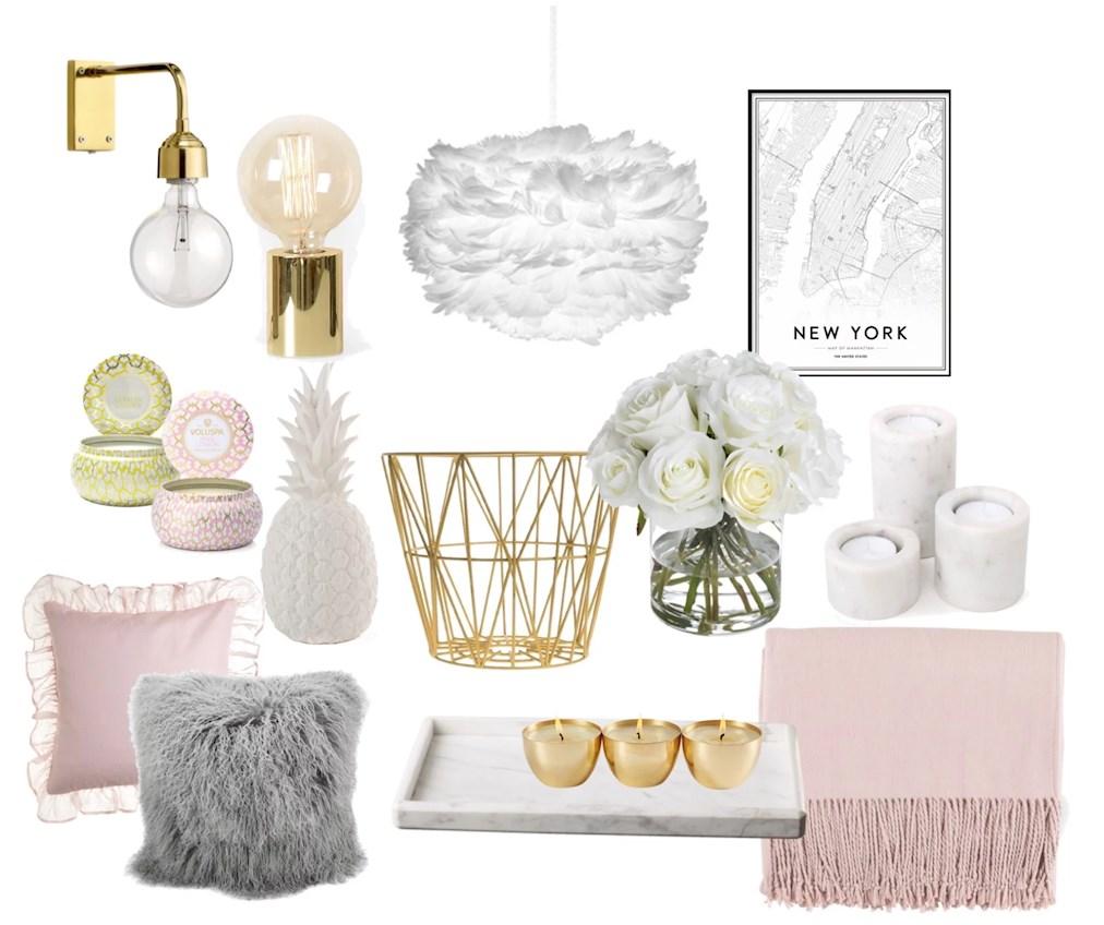 Bildresultat för rosa och guld inredning