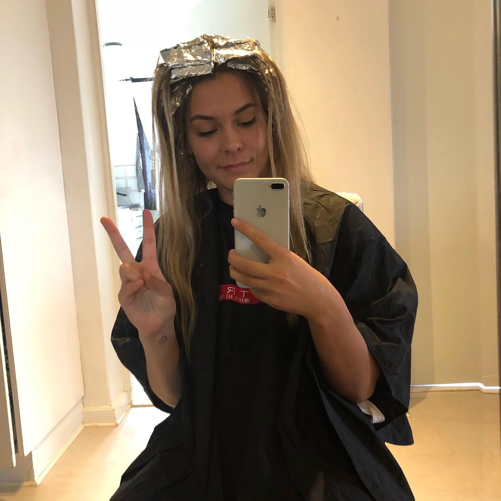 Hjälp! Va kan man göra när man slingade håret för ljust?