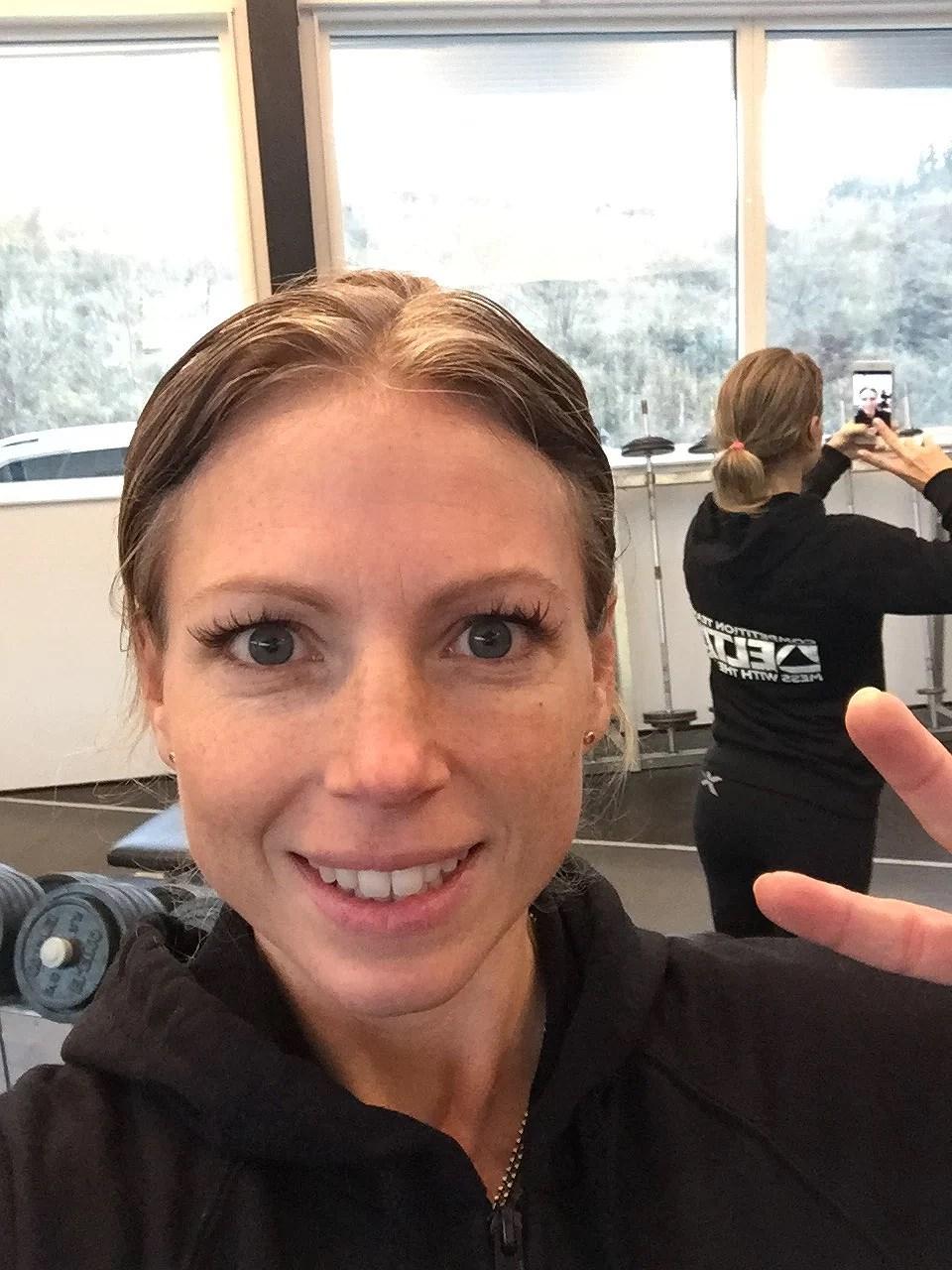 Sista träningspasset innan tävling