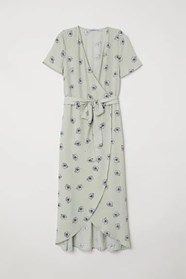 Ljusgrön omlottklänning från HM kollektion 2018