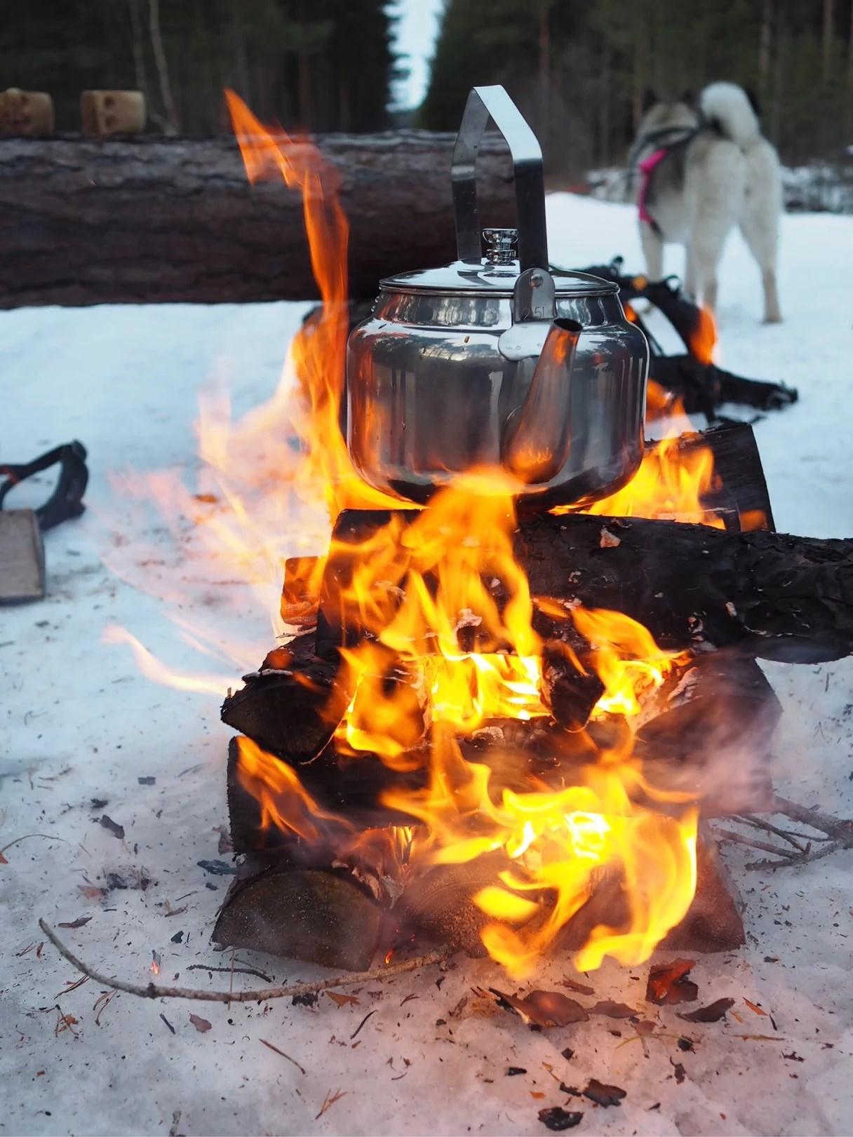 Hot drinks outside