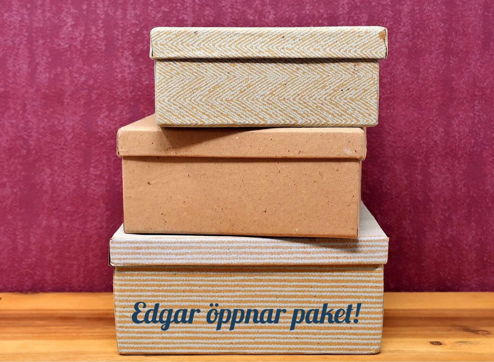 Edgar öppnar paket - Kökets Box!