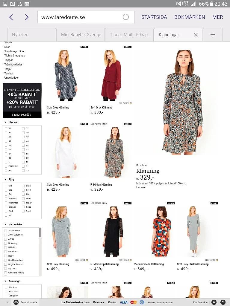 La Redoute 50 På Dam Och Flickklänningar Spar