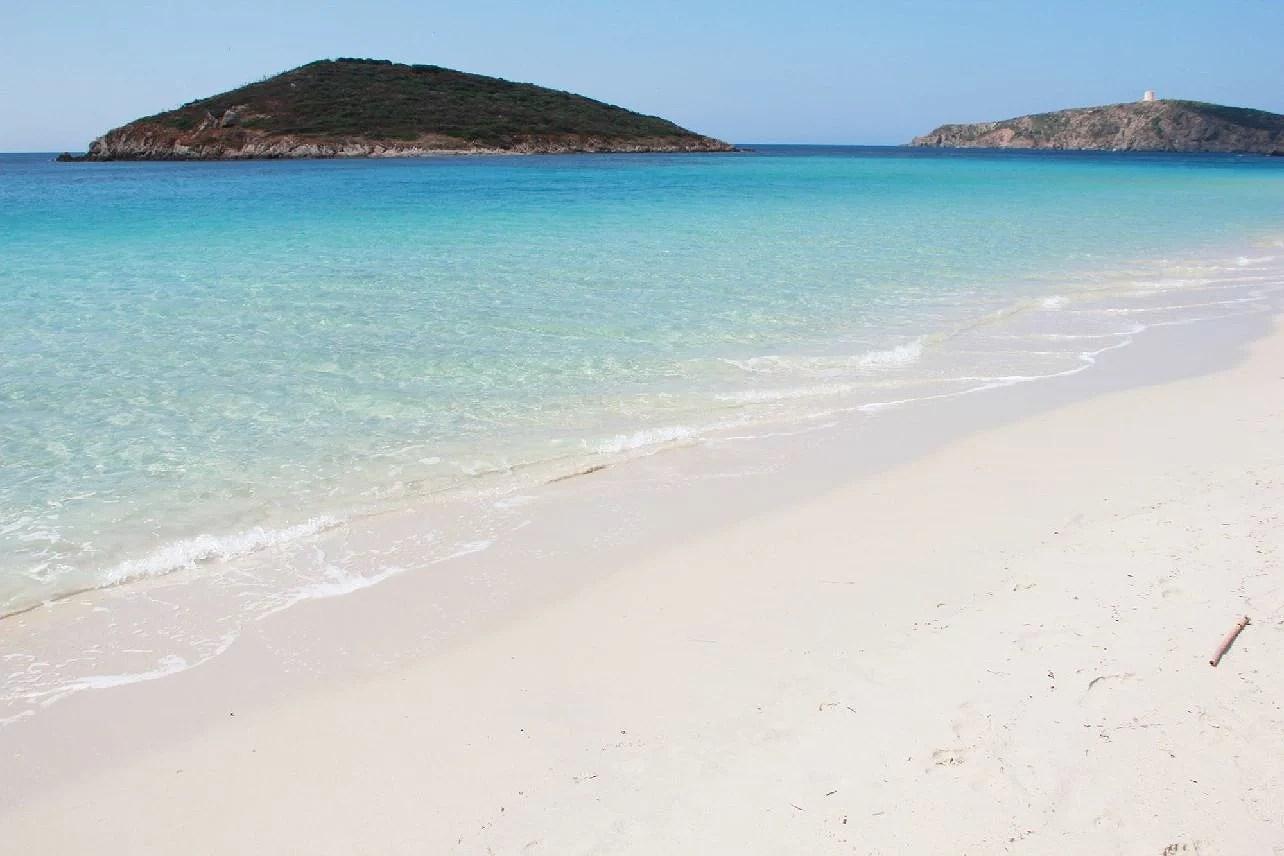 La  spiaggia di Chia in Sardegna, Chiasstrand i Sardinien i Italien