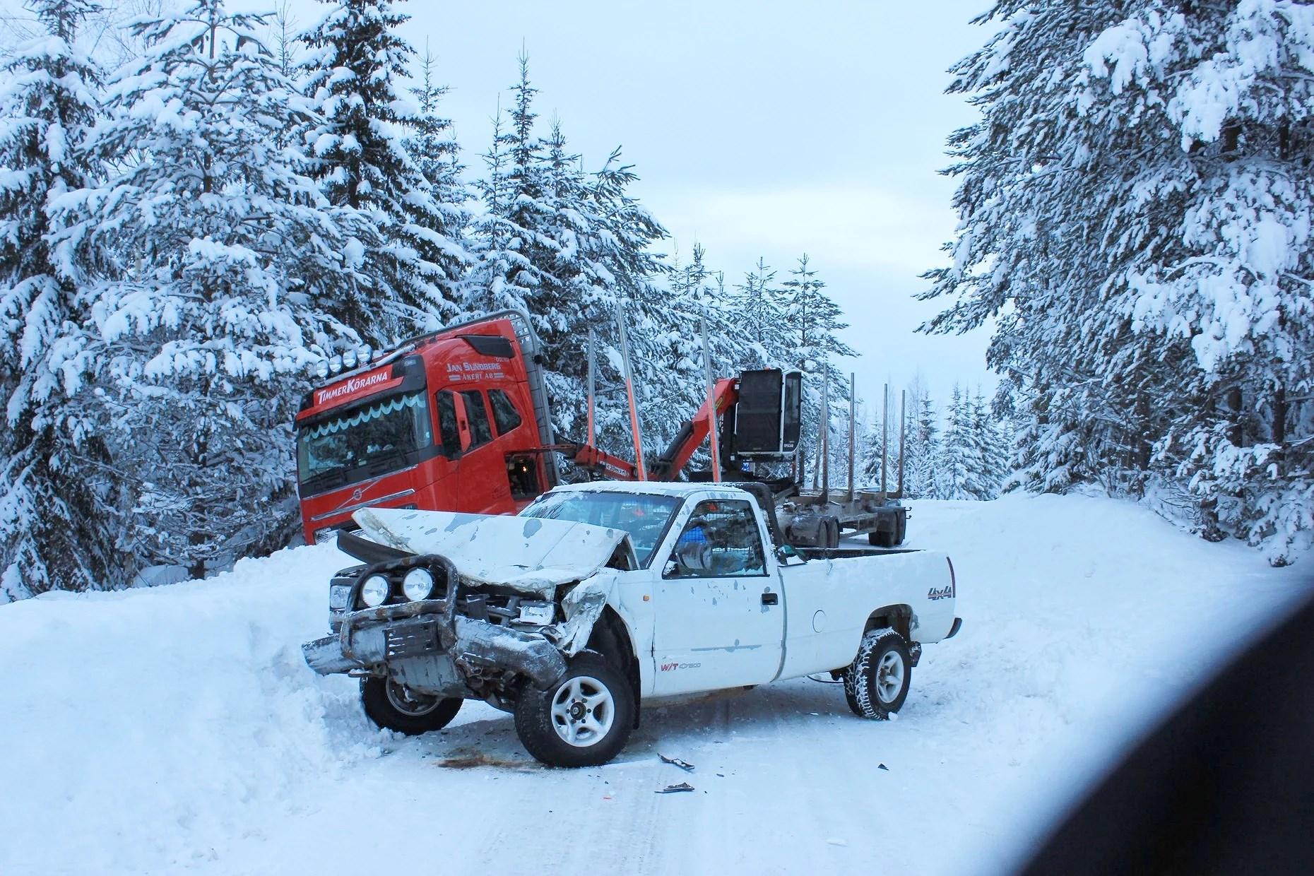 frontalkrock med lastbil