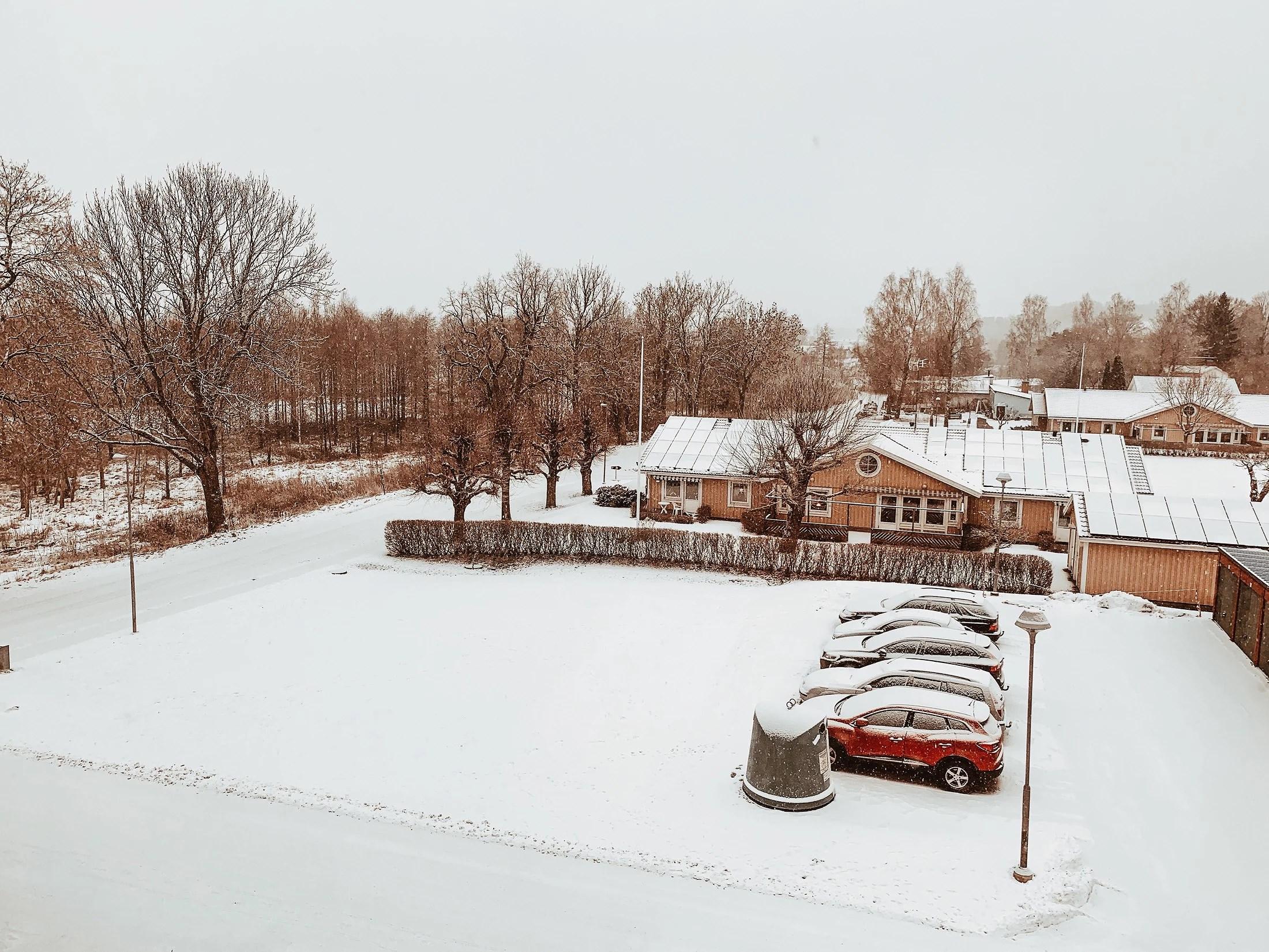 Det snöar