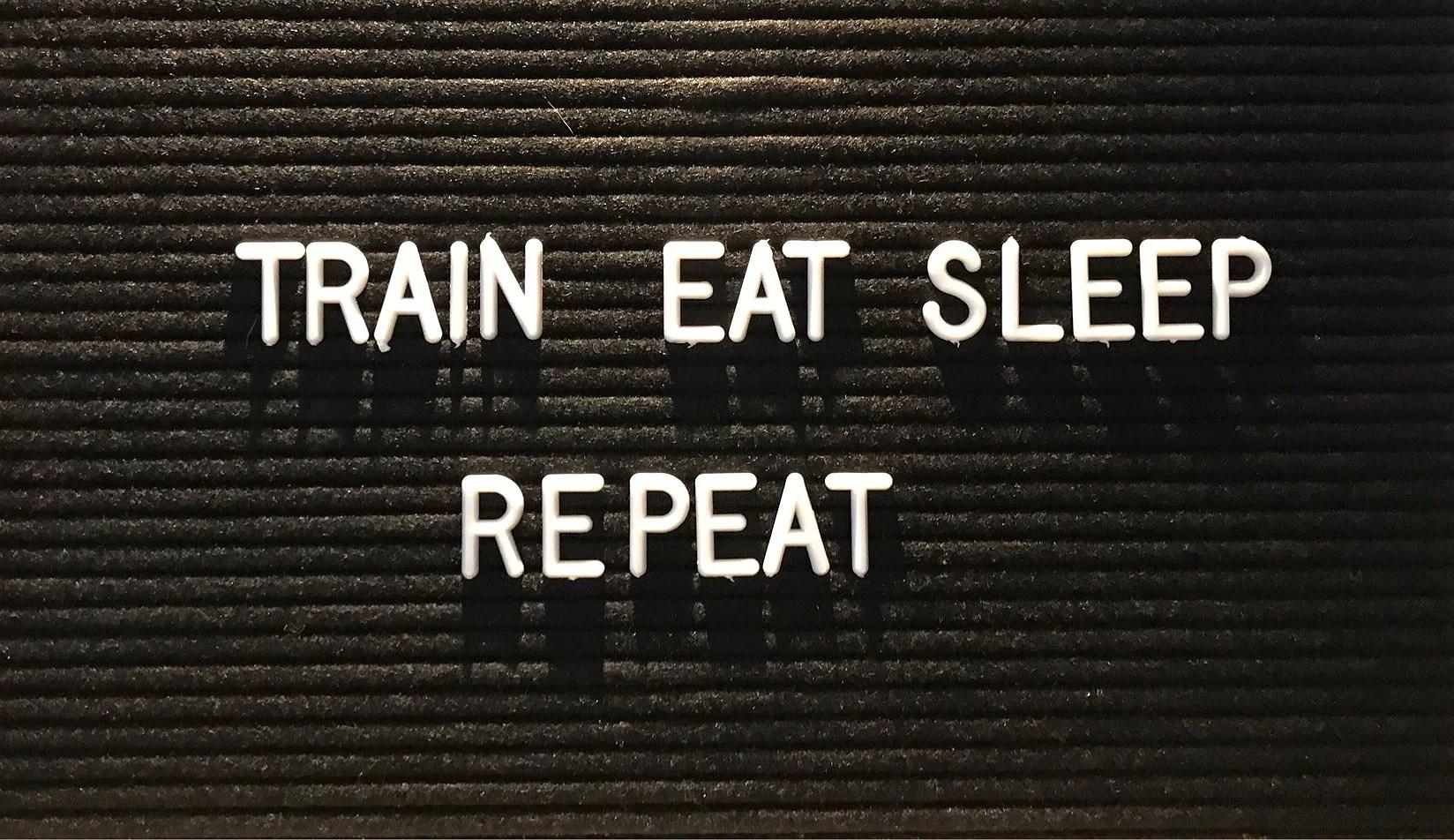 Train, eat, sleep, repeat 💪🏽