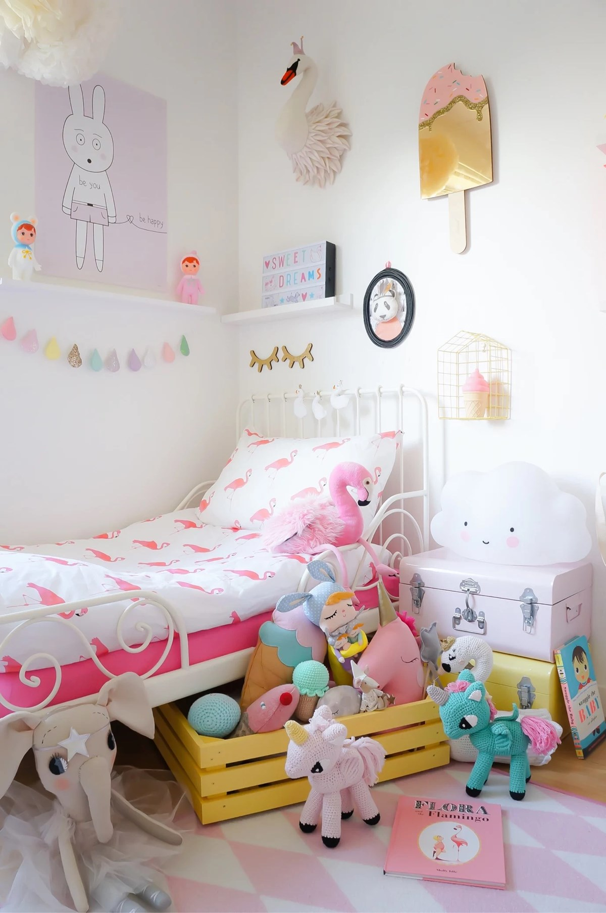 Flamingo love kidsdesignlife - Habitaciones infantiles decoracion paredes ...