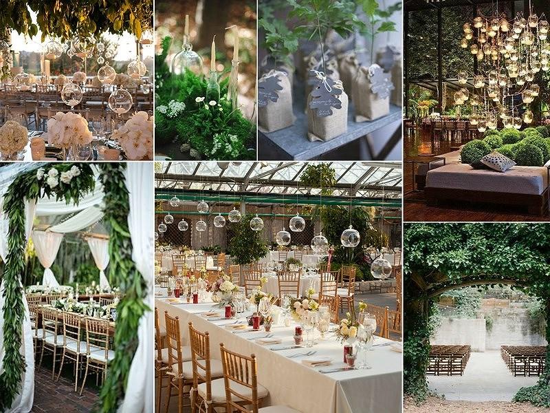 décoration pour mariage vert