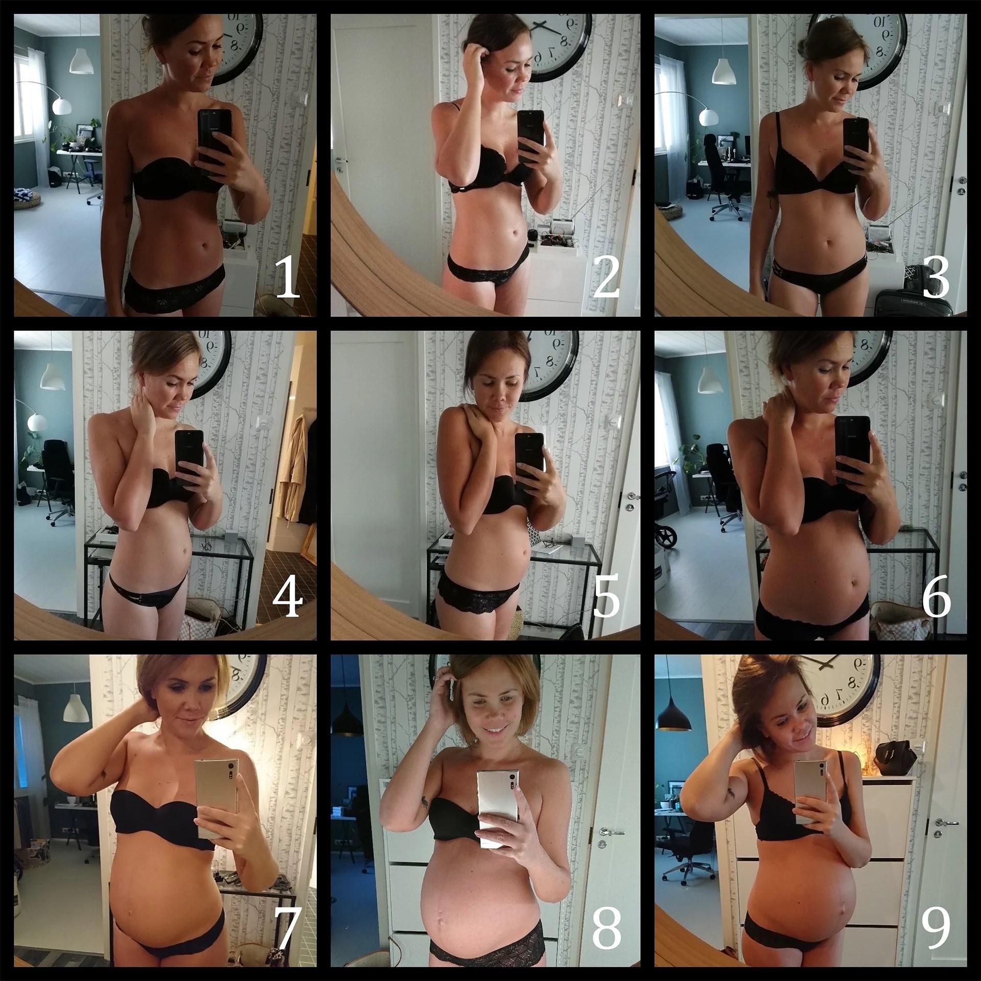 BF, magen månad för månad
