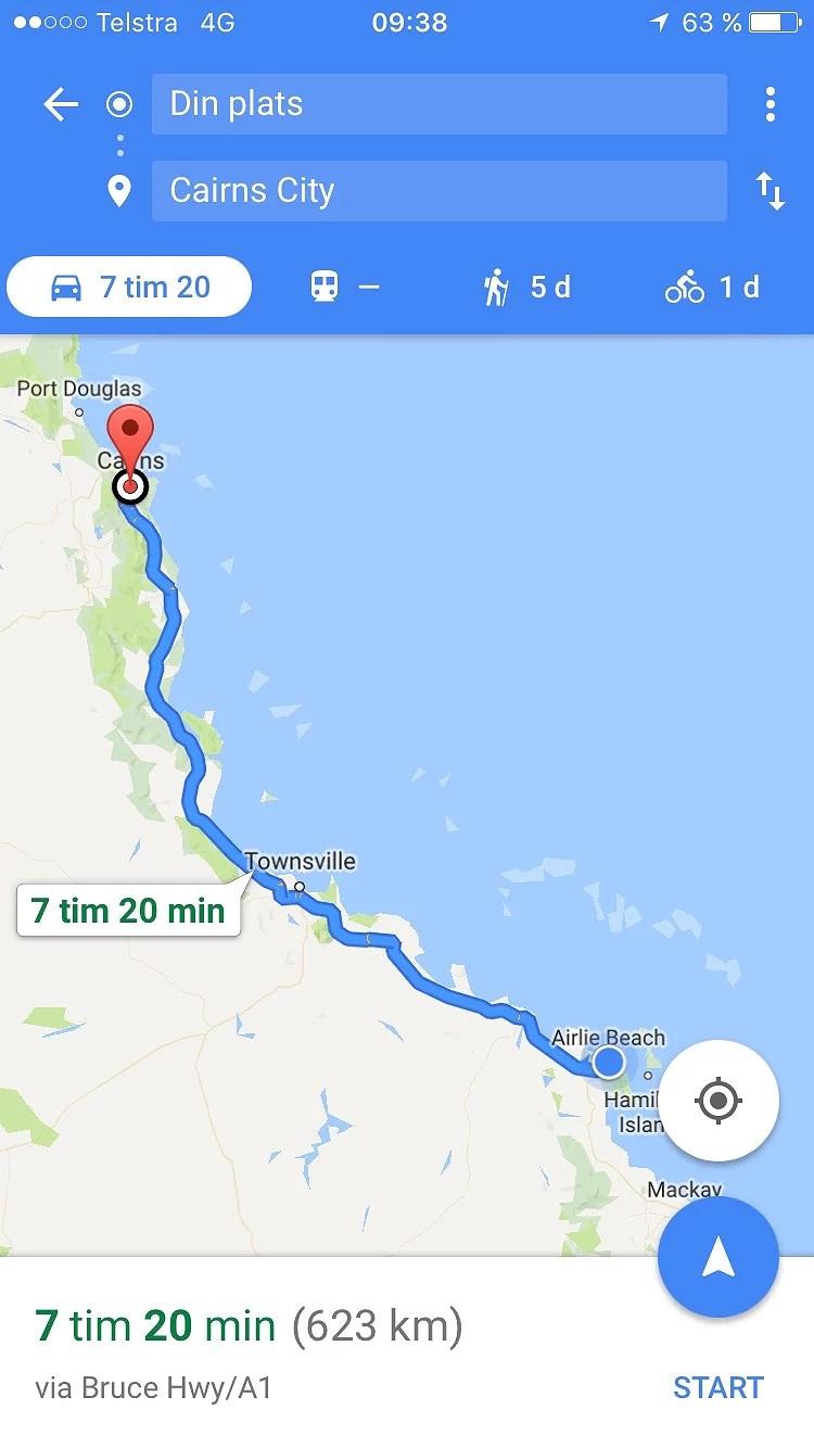 Från Airlie beach till Cairns!