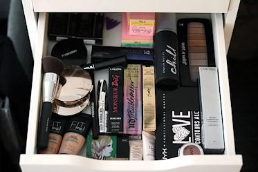 hur jag organiserar mitt smink
