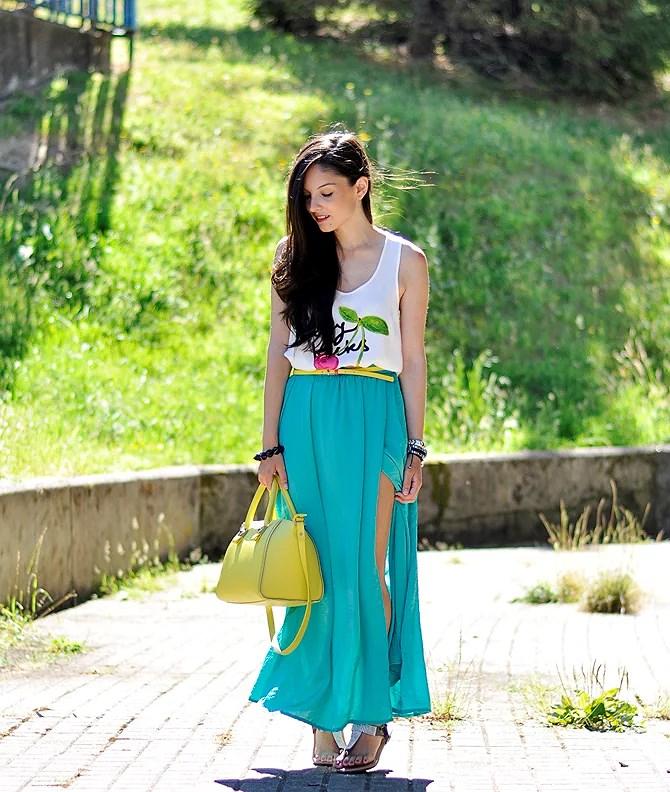 ...Turquoise Skirt...