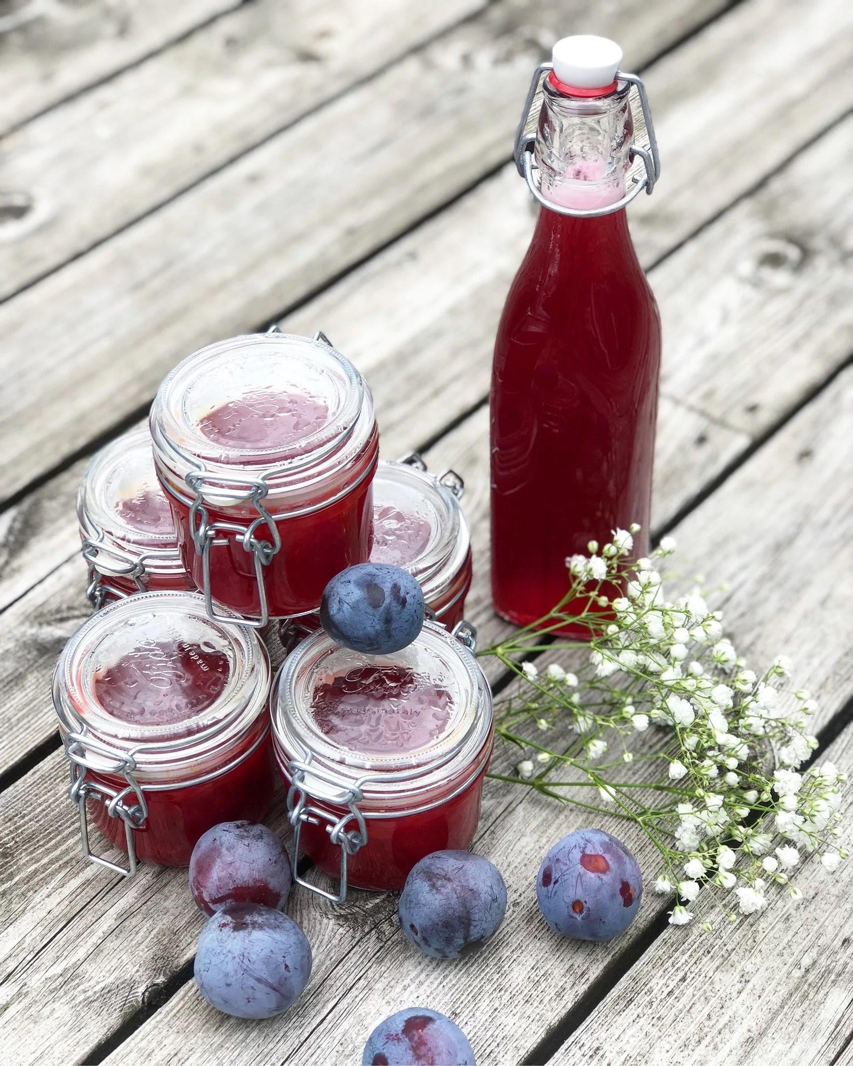 Hemmagjord marmelad & saft!