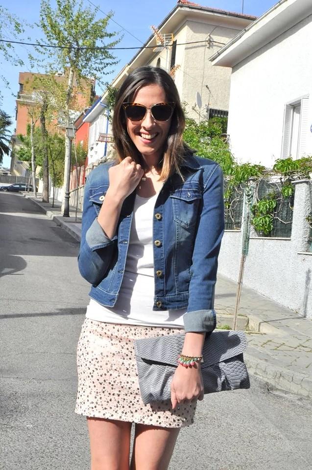 Pink Paillets Skirt