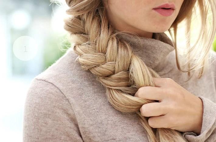 Hair tutorial - messy braid