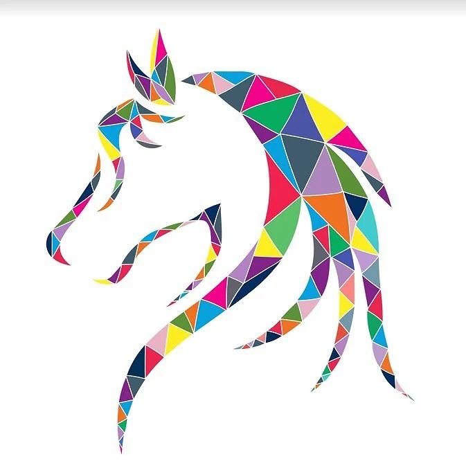 Hästhuvud i färg
