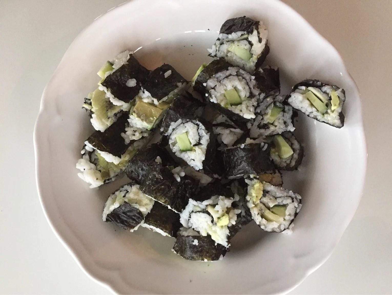 Hemgjord sushi
