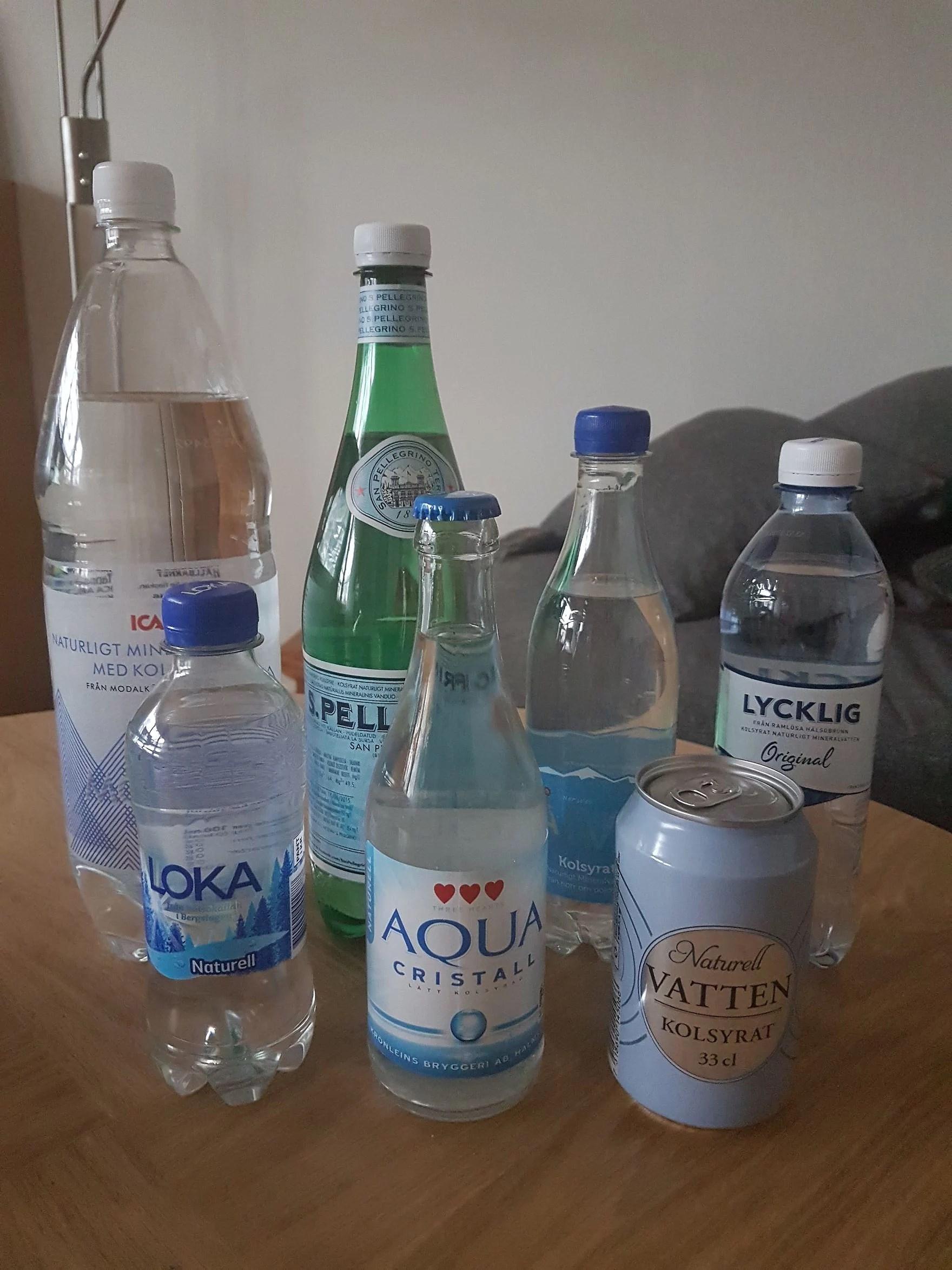 Kjell och jag har provat vatten!