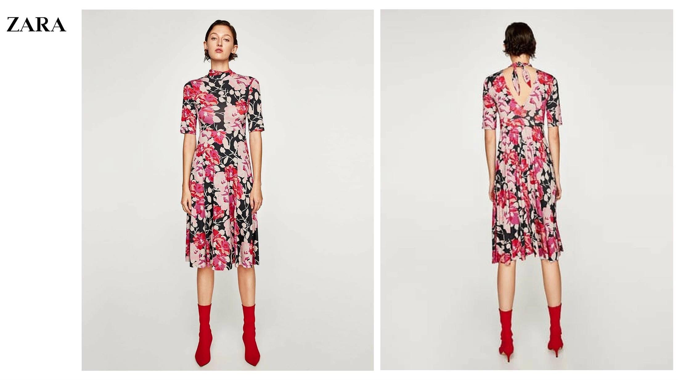 Vestido tendencia rebajas Zara