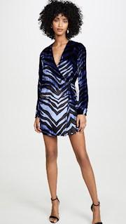 zebra blue dress