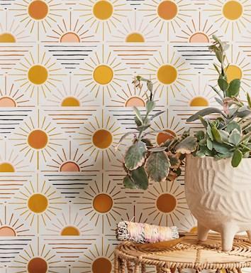 wallpaper wellness, sun, sky,retro, gentlyretro