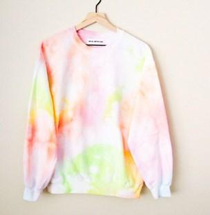 RAINBOW ICE <3 Tie Dye Sweatshirt / Pastel Rainbow Tie Dye Sweatshirt / Rainbow Tie Dye / Icee Inspired Tie Dye / Cozy Tie Dye Pullover