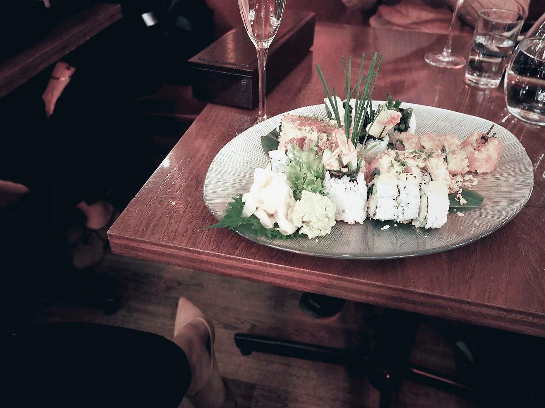 Sushi berns