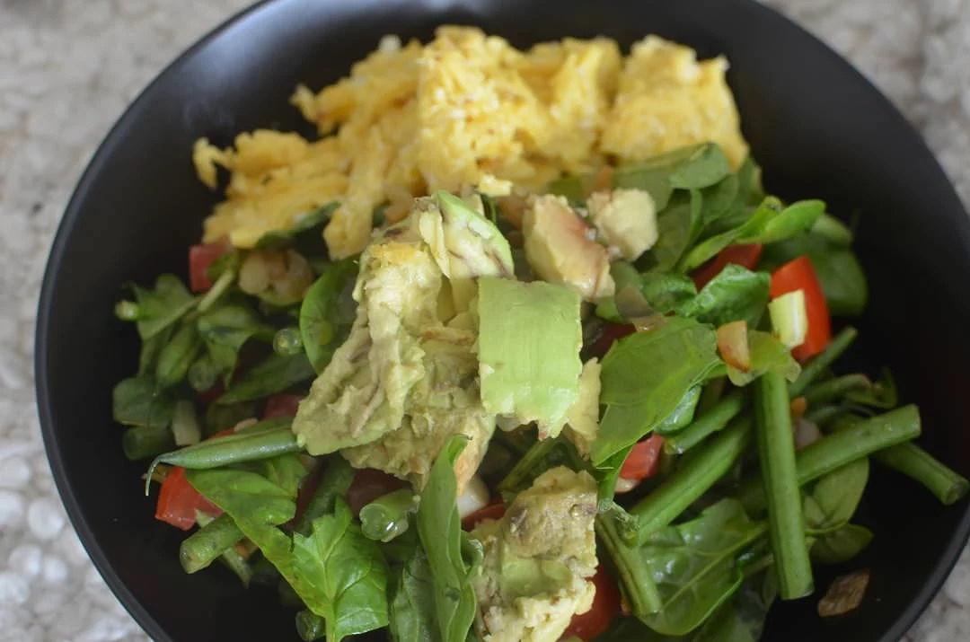 Bønnesalat med karameliserede skalotteløg & citronolie