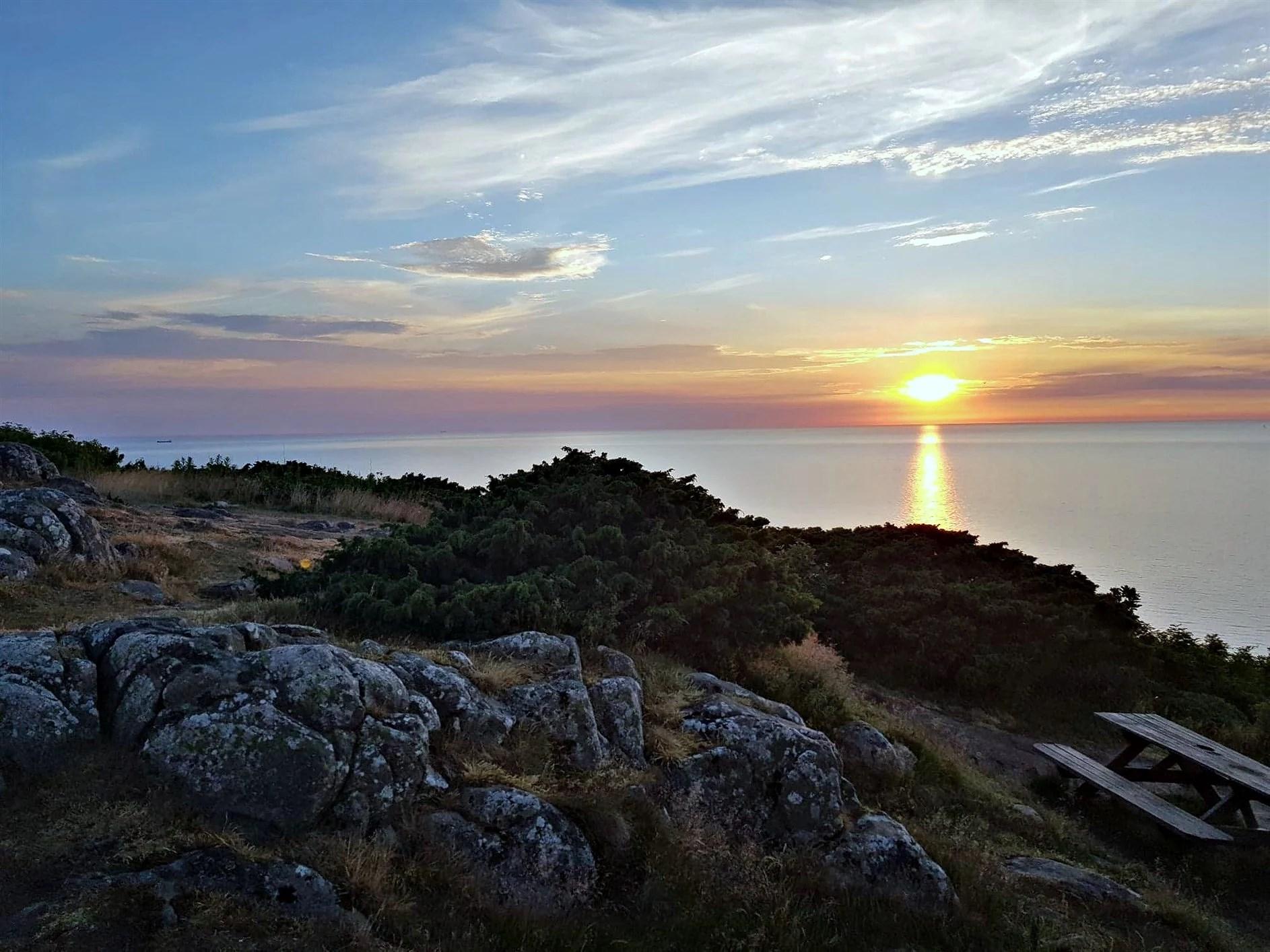 En fantastisk solnedgång -