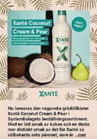 xante vegansk coconout cream and pear