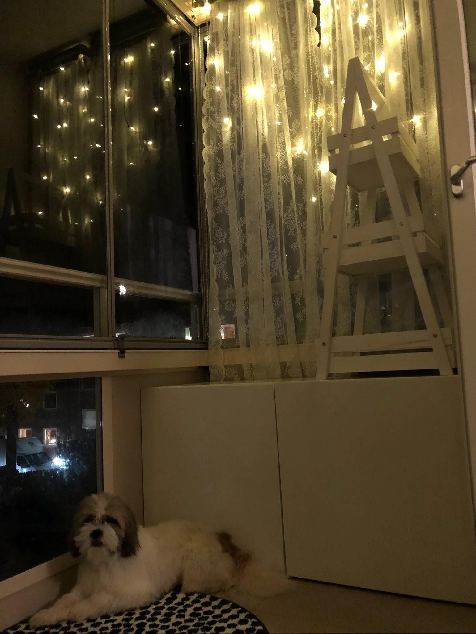 Sparkling balcony