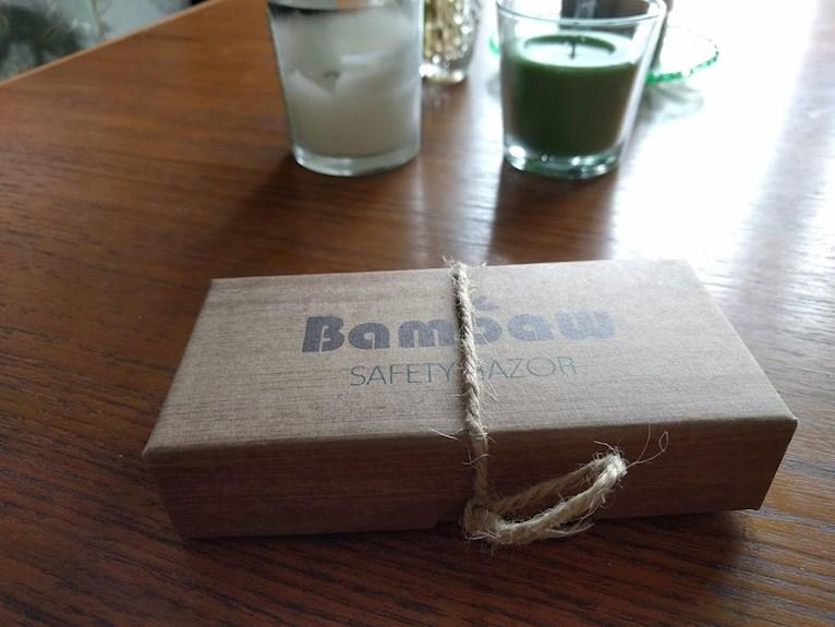 Förpckningsfritt zero waste från Green living Borlänge vegansk butik safetyrazor rakhyvel i bambu