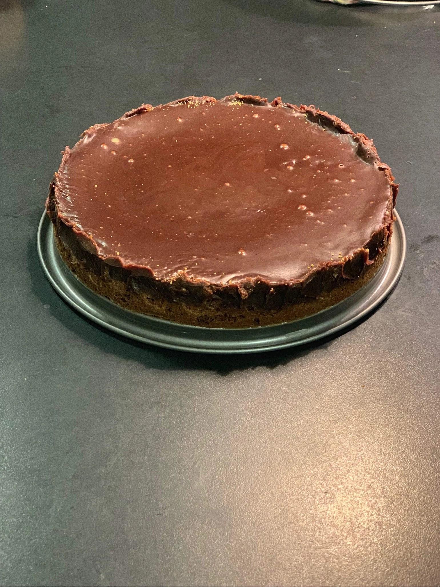 Kladdkaka med chokladfudgetäcke