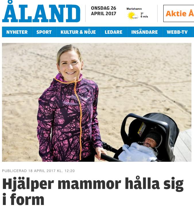 Reportage i Ålandstidningen