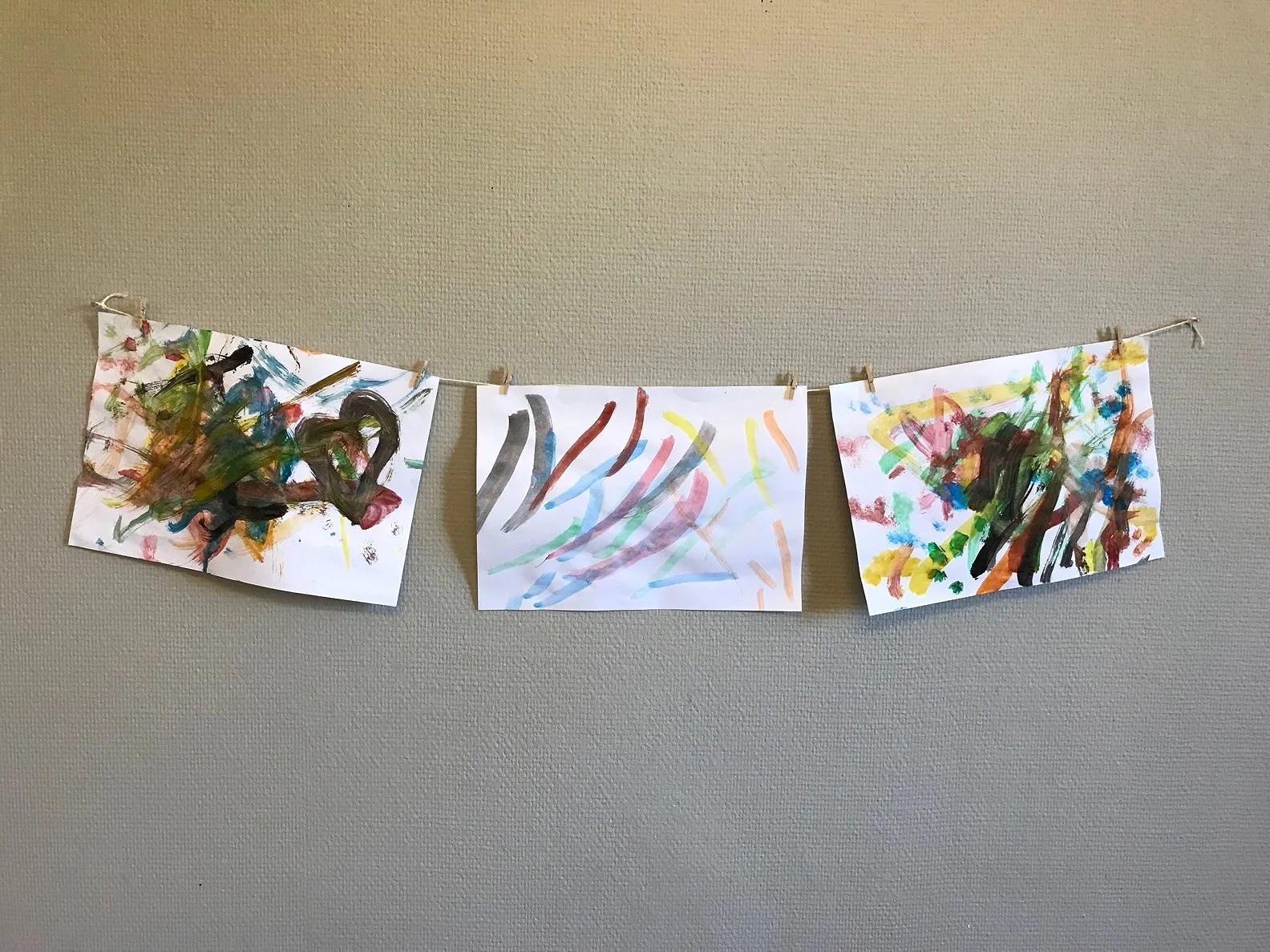 Edgar målar!