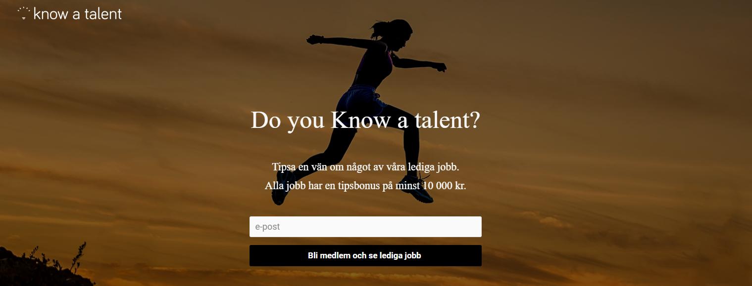 Hjälp en vän hitta jobb och bli belönad!
