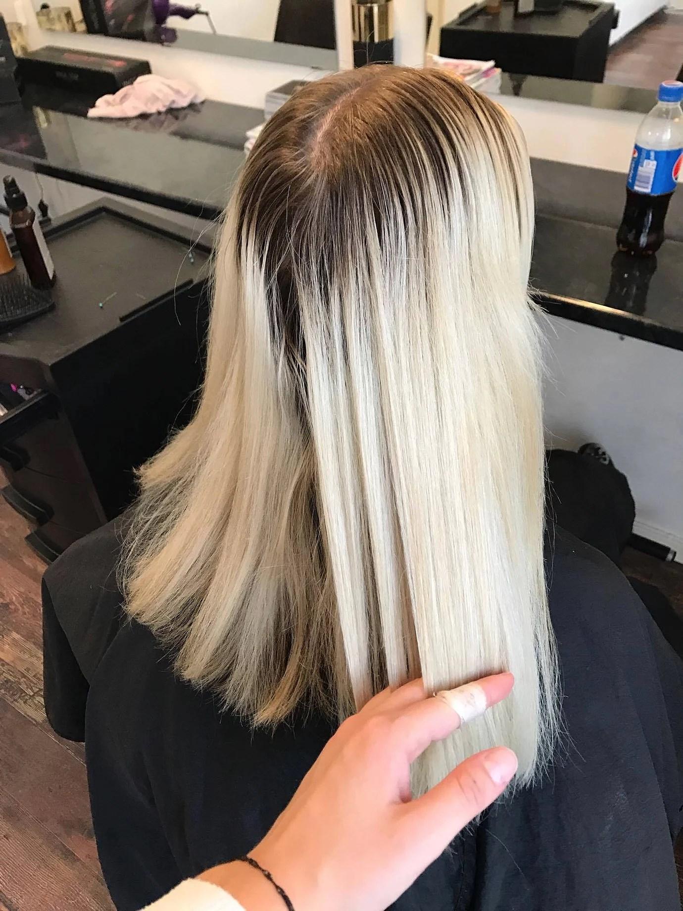 Före - Efter hårfärg