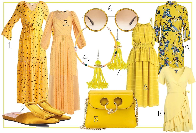 10 gule kjoler og accessories
